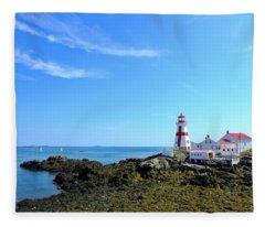 East Quoddy Lighthouse Fleece Blanket