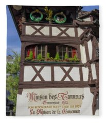Easter At Maison Des Tanneurs Fleece Blanket