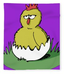 Easter Chicken Fleece Blanket