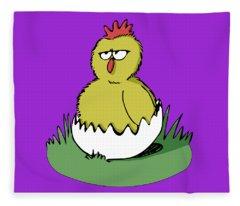 Easter Chicken Fleece Blanket