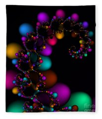 Easter Dna Galaxy 111 Fleece Blanket