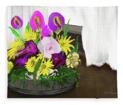Easter Flowers Fleece Blanket