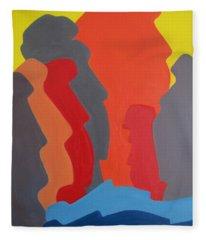 Easter Island Fleece Blanket