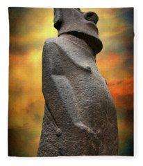 Easter Island Moai Fleece Blanket