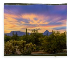 Easter Sunset H18 Fleece Blanket