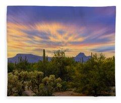 Easter Sunset H18 Fleece Blanket