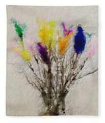 Easter Tree- Abstract Art By Linda Woods Fleece Blanket