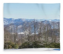Easterly Winter View Fleece Blanket
