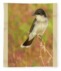 Eastern Kingbird In Colorado Fleece Blanket