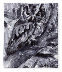 Eastern Screech-owl Fleece Blanket