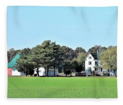 Eastern Shore Farm Fleece Blanket