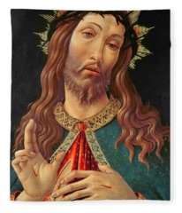 Ecce Homo Or The Redeemer Fleece Blanket