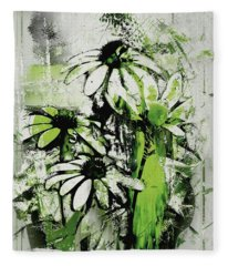 Echinacea - A11bl3c9 Fleece Blanket