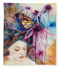 Echinacea Fleece Blanket