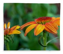 Echinacea Side View Fleece Blanket