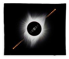 Eclipse Montage 2017 Fleece Blanket