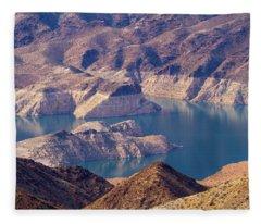 Edge Of Lake Mead Fleece Blanket