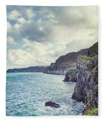Edge Of The Sea Fleece Blanket