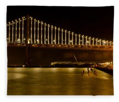 Edge Of The Waterfront Fleece Blanket