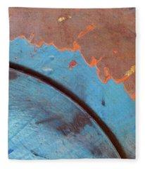 Edge Of The World. #blue #orange Fleece Blanket