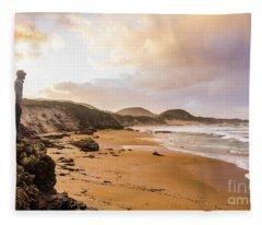 Edge Of Western Shores Fleece Blanket