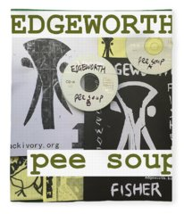 Edgeworth Pee Soup Album Cover Design Fleece Blanket