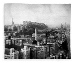 Edinburgh From Calton Fleece Blanket