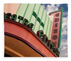 Edison Theatre - Ft. Myers, Florida Fleece Blanket