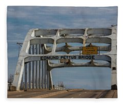 Edmund Pettus Bridge  Fleece Blanket