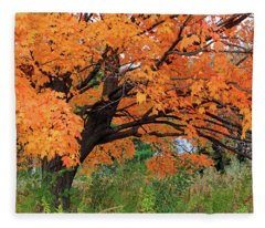 Edna's Tree Fleece Blanket