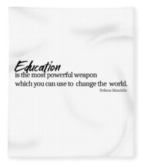 Education #minimalism Fleece Blanket