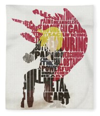 Edward Elric Typography Art Fleece Blanket