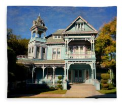 Edwards Mansion - Small Town America Fleece Blanket