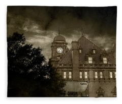 Eerie Nights At The Station Fleece Blanket