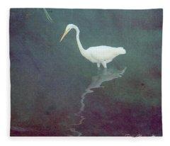 Egret Dreams Fleece Blanket