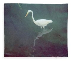 Egret Dreams Fleece Blanket