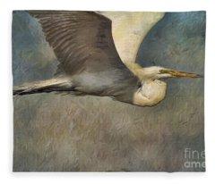 Egret Journey Fleece Blanket