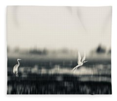 Egret Land Fleece Blanket