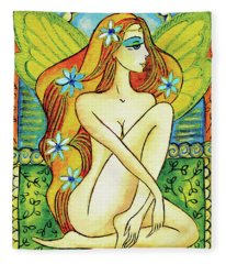Egyptian Fairy I Fleece Blanket