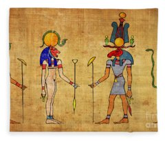 Egyptian Gods And Goddness Fleece Blanket