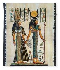 Egyptian Papyrus Fleece Blanket