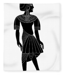 Egyptian Woman Fleece Blanket