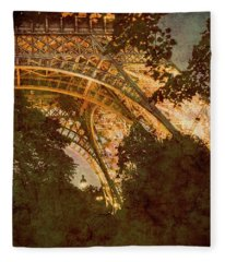 Paris, France - Eiffel Oldplate II Fleece Blanket