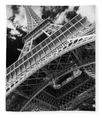 Eiffel Tower Infrared Abstract Fleece Blanket