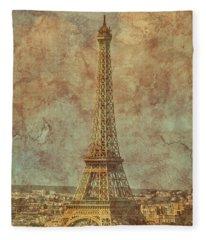 Paris, France - Eiffel Tower Fleece Blanket