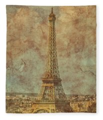 Paris, France - Eiffel Tower Fleece Blanket