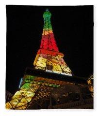 Eiffel Tower Vegas Fleece Blanket