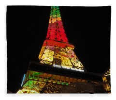 Eiffel Tower Vegas Fleece Blanket