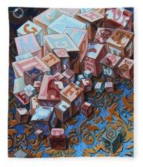 Einstein. Cubes. Op.2767 Fleece Blanket