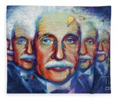 Einstein In Theory Fleece Blanket